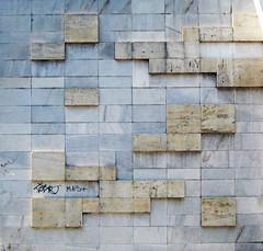""" 1""  2007 . Decorative composition on the wall of the block of flats ""Proektant 1"" Ruse Bulgaria (Balkanton) Tags: city building window architecture design mural mosaic modernism communist communism bulgaria socialist socialism modernist basrelief"