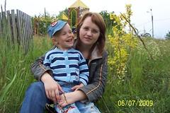 Оксана с младшим сыном