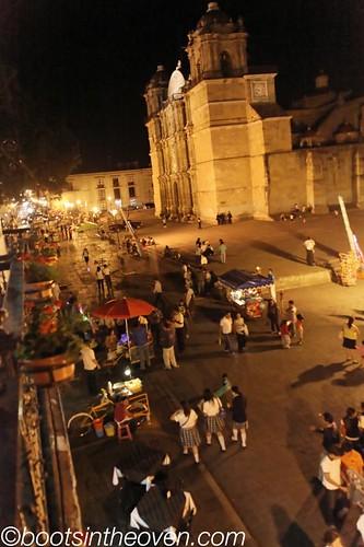 Oaxaca's Zocalo on a Thursday