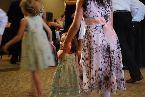 Ayden, Savannah, and Keilah dancing