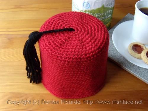 Fez Toilet Paper Roll Cover (Crochet)