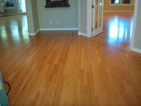 After pic or Hardwood floors in residence
