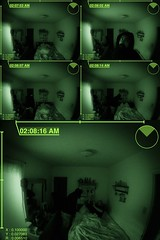 Keep your friends close and your clones in a room with a deadbolt on the door. (xwhiteboy777x) Tags: camera sleeping summer black green art night danger dark photo hoodie hilarious diptych artist michigan knife evil cctv security creepy crime killer clones securitycamera asleep bastard 42 nightvision crimescene 3gs footage iphone diptic photofx juxtaposer iphoneography gorillacam xwhiteboy777x