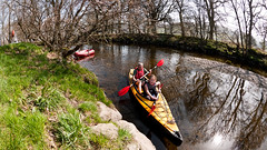 Simple pleasures (Dafydd Penguin) Tags: wales landscape lumix kayak sailing pointer canoe fisheye panasonic inflatable kayaking k2 bala northwales gf1 panasoniclumix sevylor balalake microfourthirds lumixgf1 lumix8mmfisheye