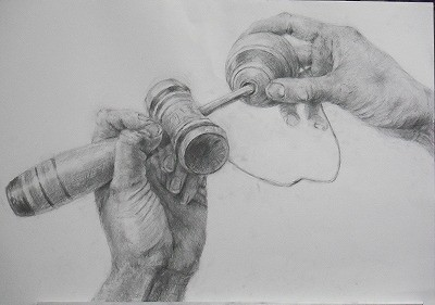 Kendama Pencil Sketch