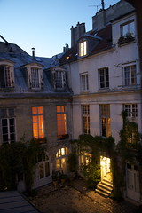 View from my window tonight (R. O. Flinn) Tags: light paris france window evening view courtyard doorway