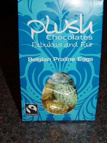 Plush Praline Chocolate Eggs