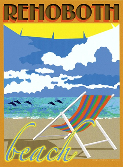 NJ Vintage Art Deco Style Travel Poster-by Aurelio Grisanty Wildwood