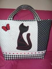 BOLSA-XADREZ-GATO (ArteTerapia) Tags: bag purse fuxico sue patchwork handbag bolsas riscos aplicacao apllique passoapasso bolsadetecido