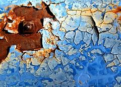 THE ICE FLOW HITS LAND (Darkmoon Photography) Tags: texture rust gimp abandon weathered peelingpaint corrosion bubblily