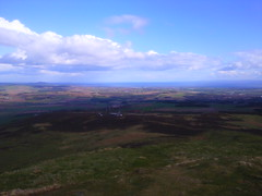 Views from Falkland Hill in Fife, Scotland toward Forth Estuary