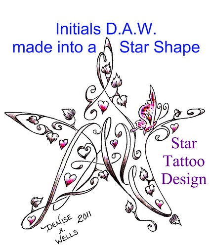 Star Tattoo Design by Denise A. Wells