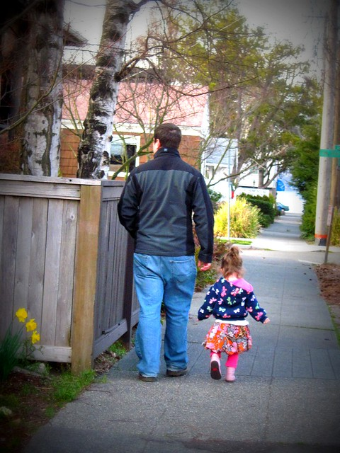 Daddy & Ash Walkin' to the Beach