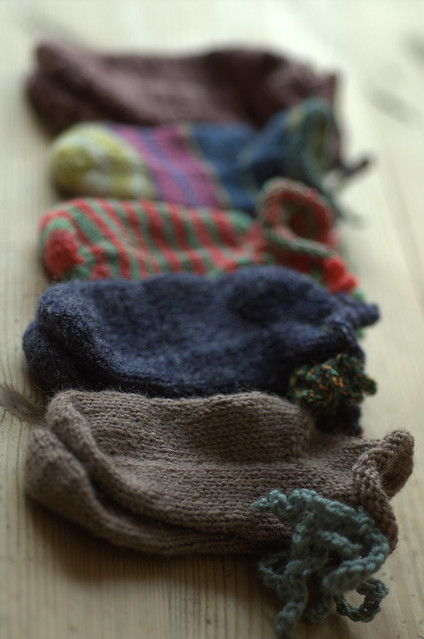 row of socks