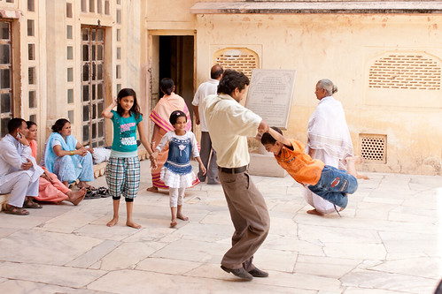 Having fun at Amber Fort