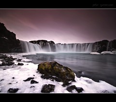 Goafoss (Ptur Gunn Photograpphy) Tags: morning travel snow nature water beautiful beauty wonderful photo waterfall iceland amazing place god sony go fresh full frame gods alpha must pure petur gunn 850 ptur turist gunnarsson goafoss mr