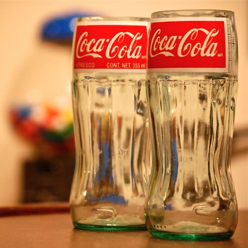 Coca Cola Cut off bottle glasses