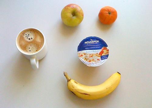 Birchermüesli, Elstar, Mandarine & Banane