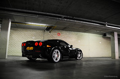 Corvette C6 Z06 (Willem Rodenburg) Tags: red 3 black holland netherlands photoshop nikon 33 interior garage picasa american brakes callaway corvette 18200 supercar v8 sticking laren willem c6 lightroom z06 the d90 modfied rodenburg