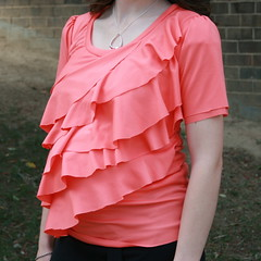Pink Ruffled Maternity Top by Jillyann Jiggs