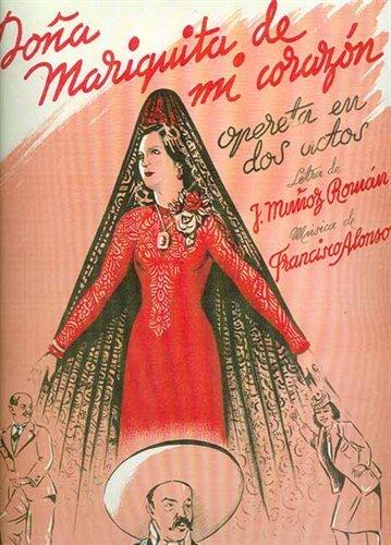 Cartel de Doña Mariquita de mi corazón