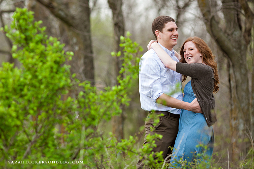 Kansas City country engagement photographers
