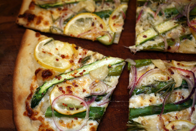 pizza | asparagus, meyer lemon & rosemary