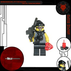 "Blood Wolves: ""Demolitions"" Ka-Boom (tin) Tags: blood lego explosion bap boom creation ba minifig explode wolves minifigure moc demolitions atin prototoype"