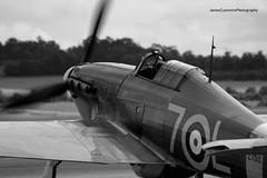 Sea Hurricane (James Cummins) Tags: uk sea canon james flying arm aviation air hurricane navy royal merlin legends duxford rolls fleet shuttleworth 2009 cambridgeshire royce cummins hawker 90300mm 400d
