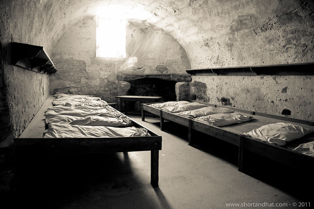 Sleeping quarters in the fort