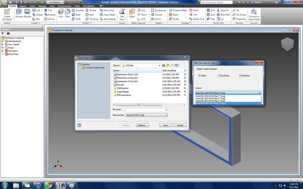 Solved: Inventor 2012 export dxf versions - Autodesk Community