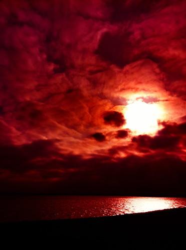 [フリー画像] 自然・風景, 空, 雲, 夕日・夕焼け・日没, アメリカ合衆国, 201104251900