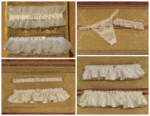 Modern, chic couture bridal garter collection - Bridal Styles Boutique - silk organza - french lace - silk satin