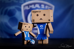 We Love AL HILAL    (SaRa Meow  .. / @sosoMeow) Tags: blue game ball toys football goal play soccer cheerleader players cuteness danbo canon50mm  hilal