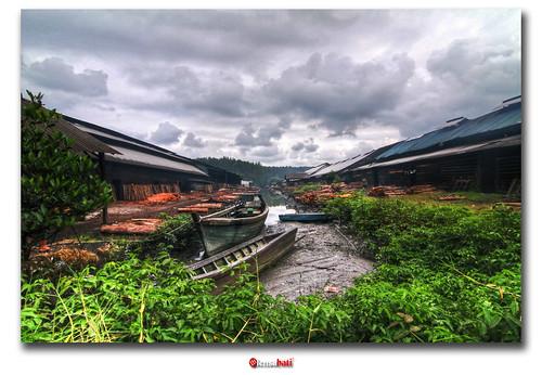 charcoal factory | Kuala Sepetang, Perak