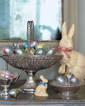 Metal Beautiful Easter Basket Martha Stewart Design