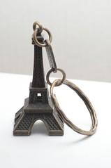 Eiffel tower flash lit