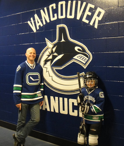 Aidan and me by the Canuck's dressing room