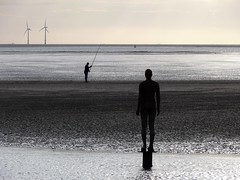 Silent vigil (pompey shoes) Tags: beach water statue metal liverpool naked fishing fisherman sand iron wind body farm castiron anthony gormley crosby angler sefton gamewinner thechallengegame challengegamewinner friendlychallenges antonygormleysanotherplace ispycaughtintheactwinner 3rdplaceispymedalofhonourwinner