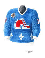 Quebec Nordiques 1992-93 jersey artwork (Scott Sillcox) Tags: art heritage history hockey vintage nhl artwork uniform jersey collectible throwback coloradoavalanche quebecnordiques originalsportsart