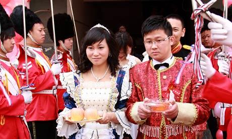 卫报:中国婚礼也有王室范儿【组图】