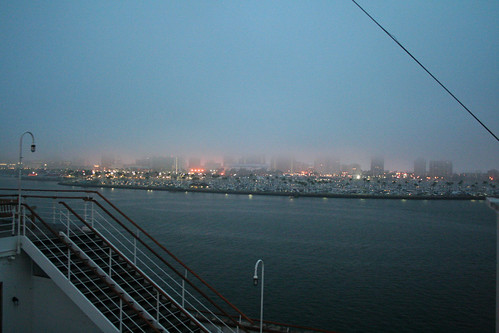 Queen Mary - Long Beach in Morning Mist