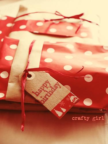 Polka dots gift