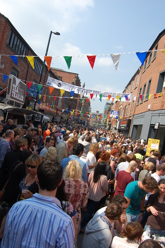 Street party in manchester