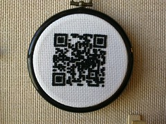 Are You F**king Kidding Me (NeedleworkRage) Tags: black code cross needlework stitch stitching subversive qr