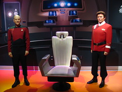 Captain Picard and Captain Kirk figures at Madame Tussauds Hollywood (Loren Javier) Tags: california startrek losangeles hollywood captainpicard startrekthenextgeneration madametussauds captainkirk patrickstewart jeanlucpicard williamshatner jamestkirk madametussaudshollywood
