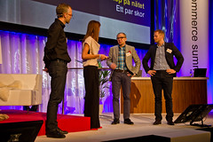 Fredrik Lennström, Sarah Wittbom, Arne B Andersson och Magnus Fredin @ Nordic eCommerce Summit
