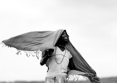 Karrayyu girl fighting with wind in  Metahara lake - Ethiopia (Eric Lafforgue) Tags: africa people blackandwhite girl smile childhood smiling gabi horizontal youth outside outdoors person kid child wind noiretblanc joy tribal jeunesse innocence shawl ethiopia tribe enfant fille sourire bonheur naivete personne humanbeing joie hapiness afrique tribu dehors eastafrica enfance abyssinia ethiopie sourir exterieur traditionalclothes blackandwhitepicture waistup 5640 abyssinie vueexterieure afriquedelest alataille etrehumain photoennoiretblanc karayu karrayyu cadragealataille tribudeskarrayyus karrayyutribe peuplekarrayyu karrayyupeople habittraditionnels