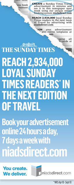 The Sunday Times Classified Travel Edition by niadsdirectcom