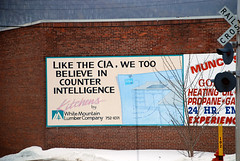 CIA is kitchen table news (Bob Gundersen) Tags: building berlin strange sign town interesting nikon funny image shots picture newengland newhampshire places whitemountains nh franconia scenes gundersen gorham errol livefreeordie northernnewhampshire d40x greatnorthwoods abovethenotches bobgundersen